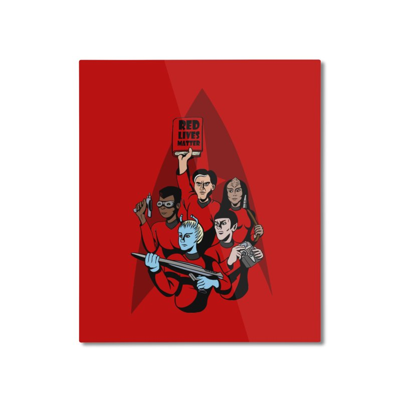 Redshirts Home Mounted Aluminum Print by dZus's Artist Shop