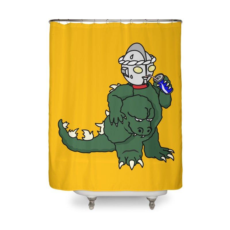 It's Ultra Tough Man Home Shower Curtain by dZus's Artist Shop