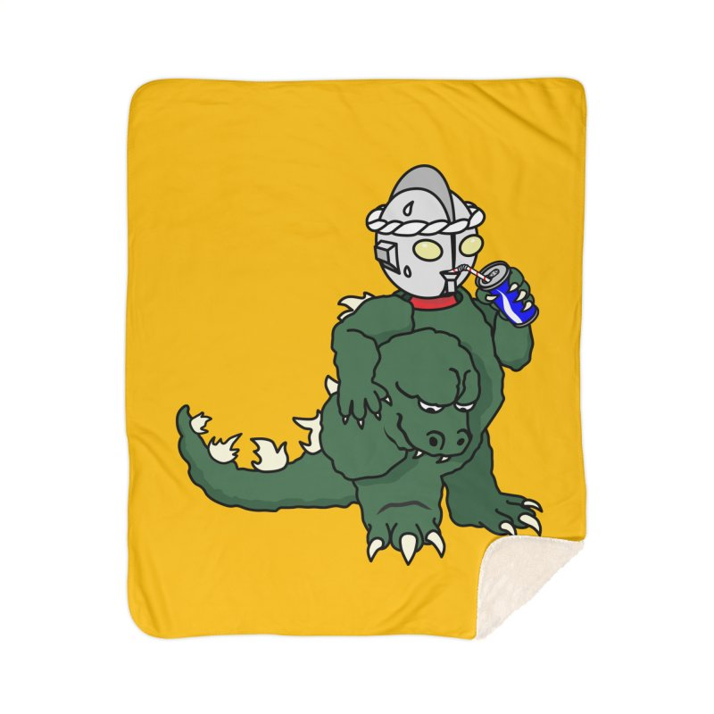 It's Ultra Tough Man Home Sherpa Blanket Blanket by dZus's Artist Shop