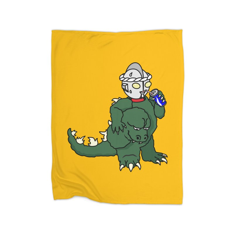 It's Ultra Tough Man Home Fleece Blanket Blanket by dZus's Artist Shop