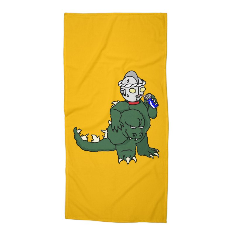 It's Ultra Tough Man Accessories Beach Towel by dZus's Artist Shop