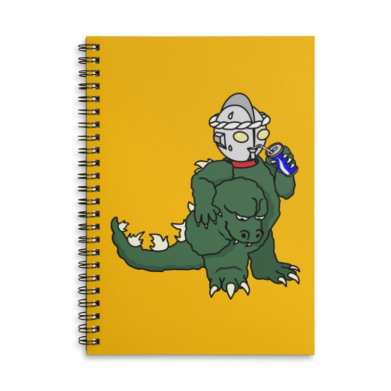 It's Ultra Tough Man Accessories Lined Spiral Notebook by dZus's Artist Shop