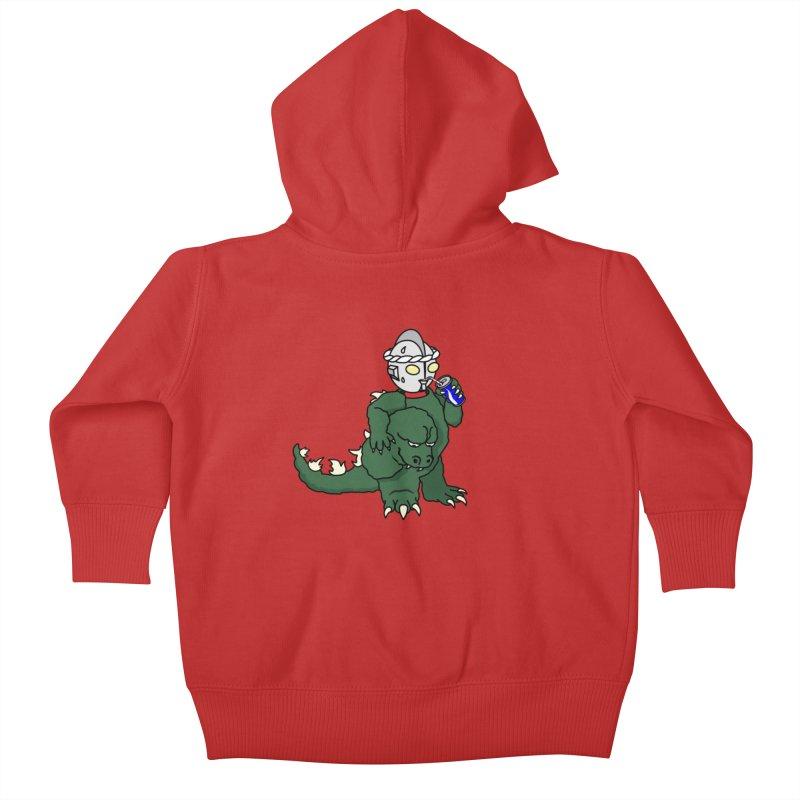 It's Ultra Tough Man Kids Baby Zip-Up Hoody by dZus's Artist Shop