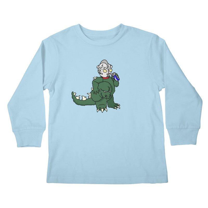It's Ultra Tough Man Kids Longsleeve T-Shirt by dZus's Artist Shop