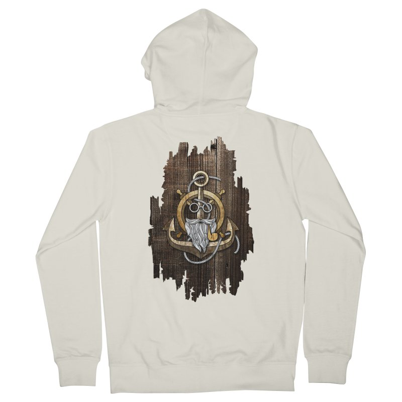 The Wise Sailor (Brown) Men's Zip-Up Hoody by eagle919's Artist Shop