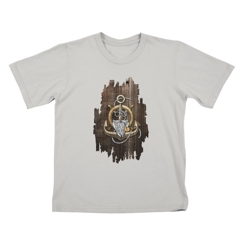 The Wise Sailor (Brown) Kids T-Shirt by eagle919's Artist Shop