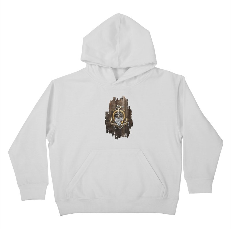 The Wise Sailor (Brown) Kids Pullover Hoody by eagle919's Artist Shop