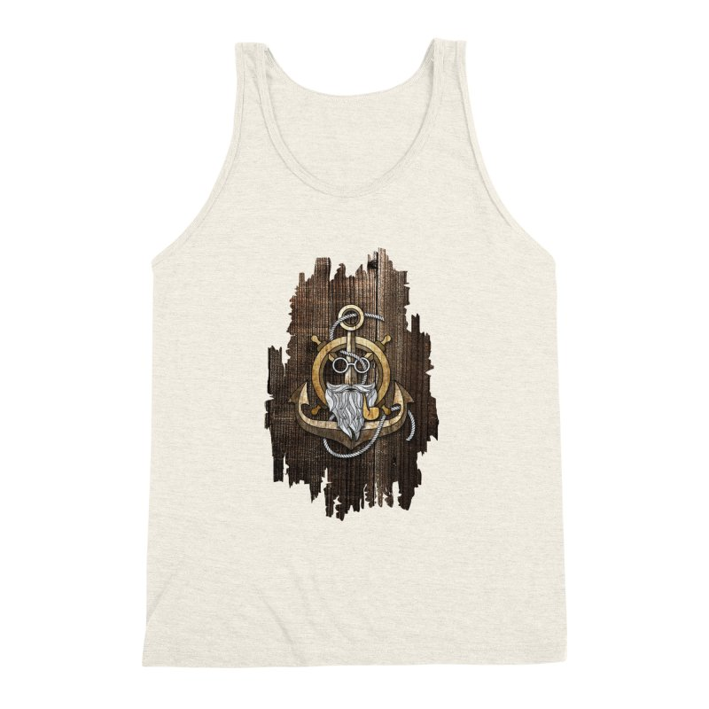 The Wise Sailor (Brown) Men's Triblend Tank by eagle919's Artist Shop