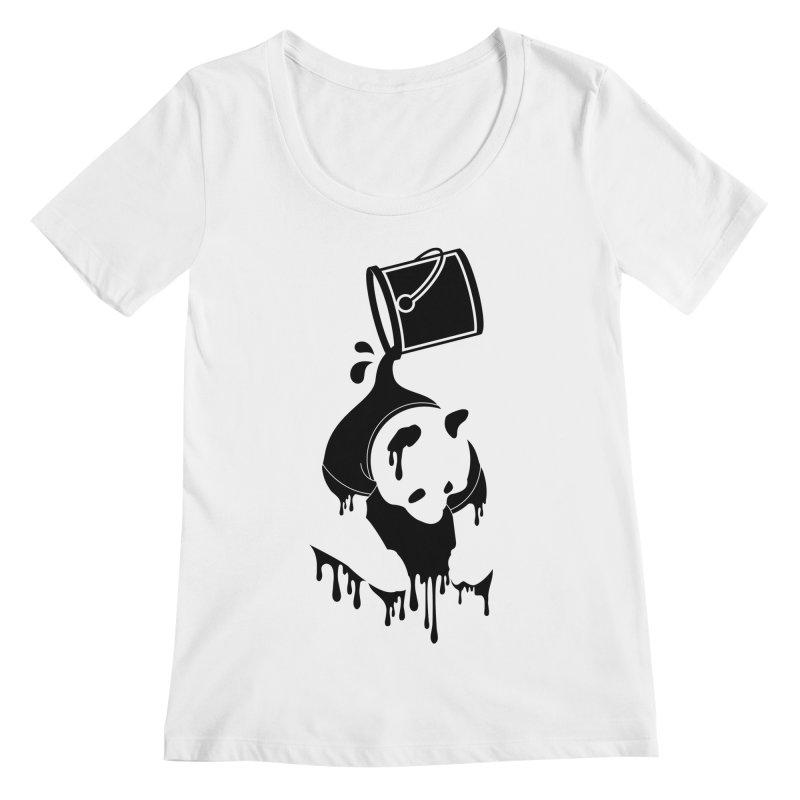 Panda Women's Scoopneck by eagle919's Artist Shop