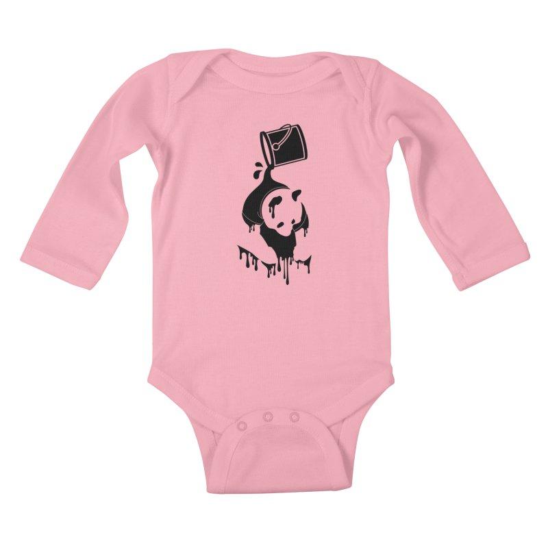 Panda Kids Baby Longsleeve Bodysuit by eagle919's Artist Shop