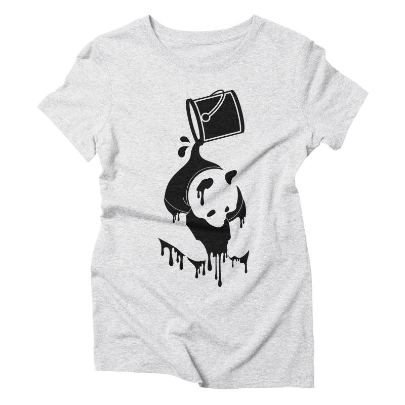 Panda Women's Triblend T-shirt by eagle919's Artist Shop