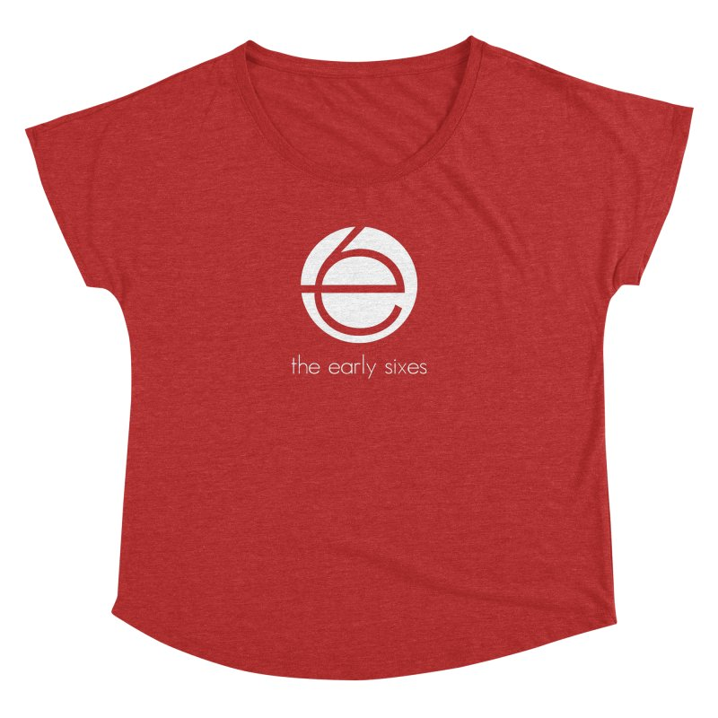 e6 Emblem Tees & Tanks in Women's Dolman Scoop Neck Heather Red by The Early Sixes - Merch