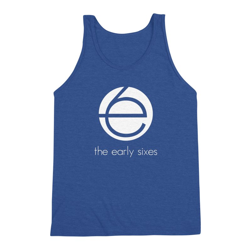 e6 Emblem Tees & Tanks in Men's Triblend Tank Heather Royal by The Early Sixes - Merch