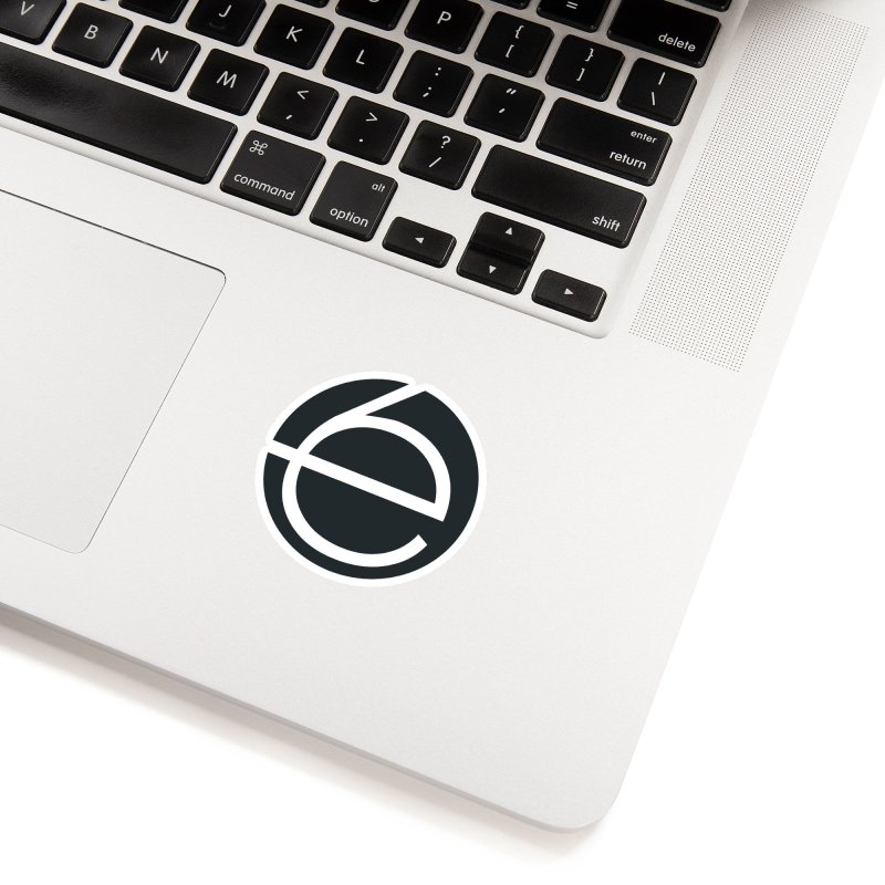 e6 Emblem Accessories in White Sticker by The Early Sixes - Merch