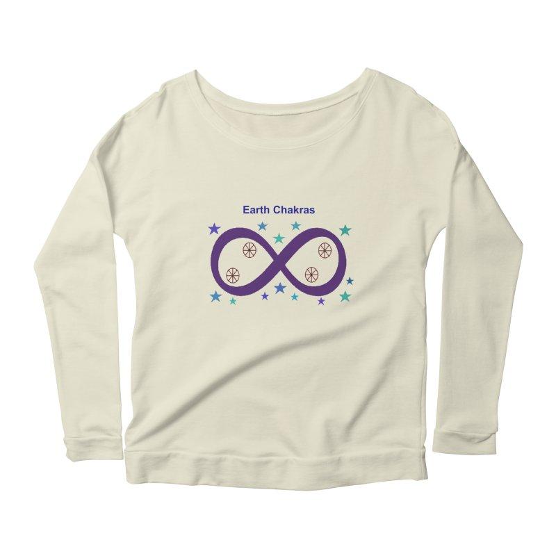 Earth Chakras Women's Scoop Neck Longsleeve T-Shirt by earthchakras Artist Shop