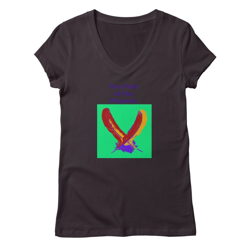 The Path of the Phoenix Women's Regular V-Neck by earthchakras Artist Shop