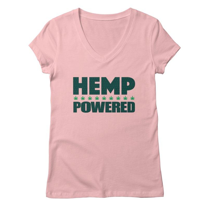 Hemp Powered Women's V-Neck by earthfiredragon