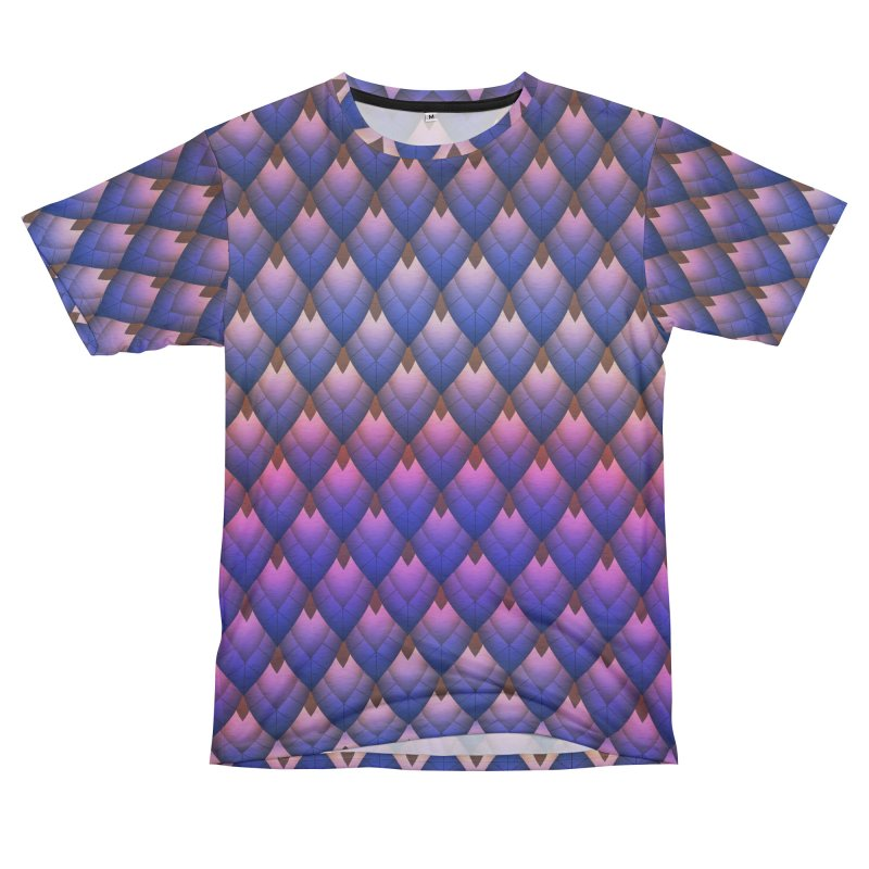 Scale Mail Men's French Terry T-Shirt Cut & Sew by earthfiredragon