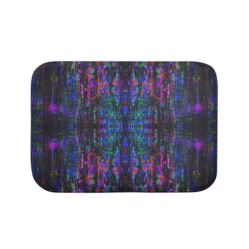 Blue Digital Home Bath Mat by earthfiredragon
