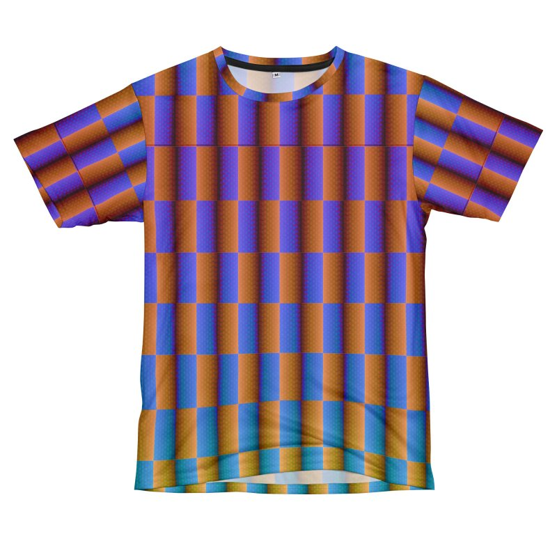 Moving Checkerboard Men's Cut & Sew by earthfiredragon