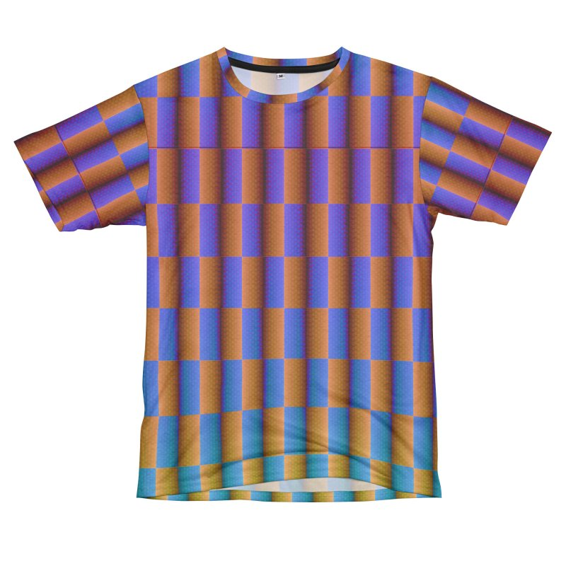 Checkerboard Women's Unisex French Terry T-Shirt Cut & Sew by earthfiredragon