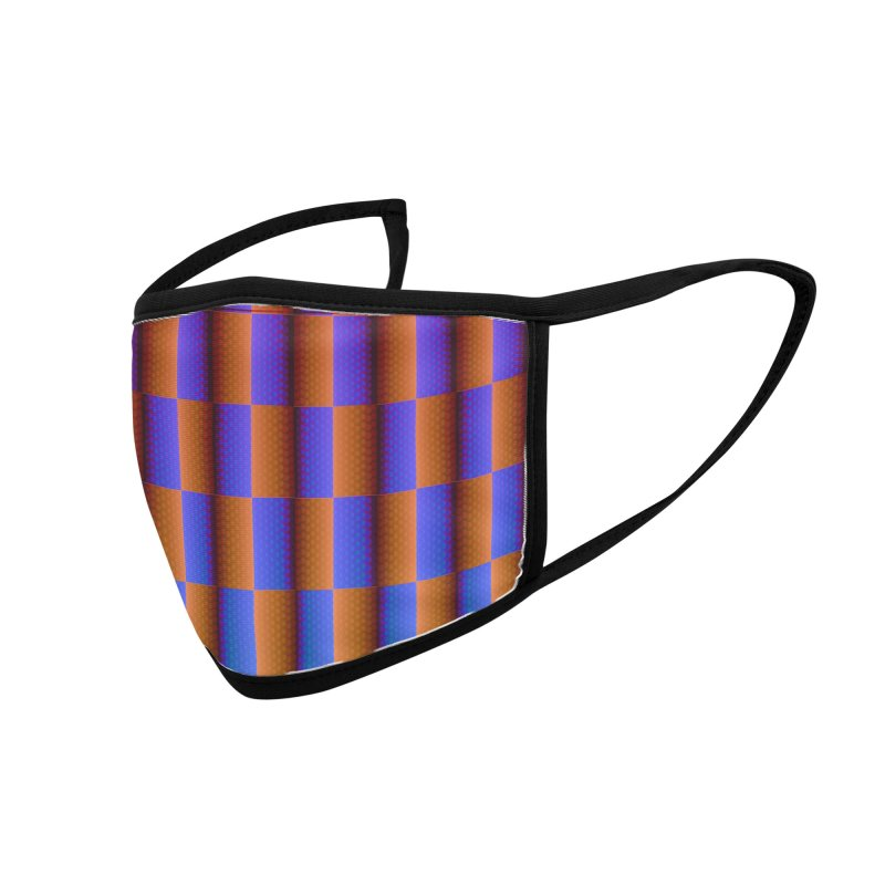 Moving Checkerboard Accessories Face Mask by earthfiredragon