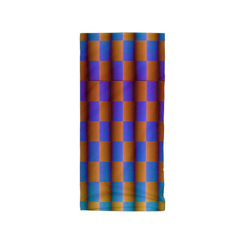 Moving Checkerboard Accessories Neck Gaiter by earthfiredragon