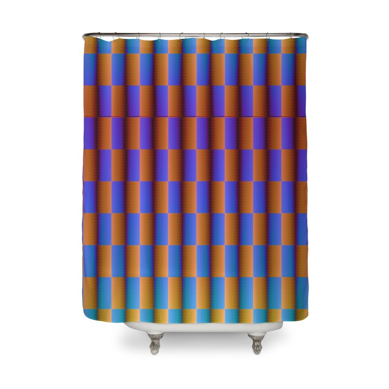 Checkerboard Home Shower Curtain by earthfiredragon