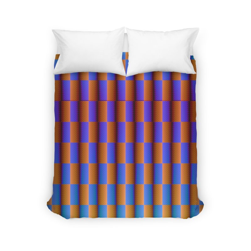 Moving Checkerboard Home Duvet by earthfiredragon