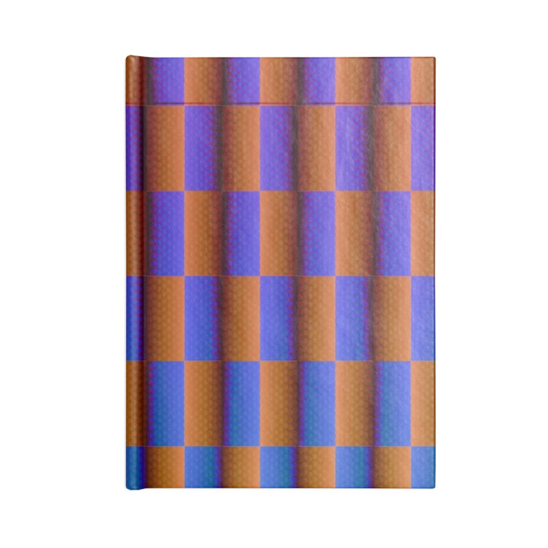 Checkerboard Accessories Lined Journal Notebook by earthfiredragon