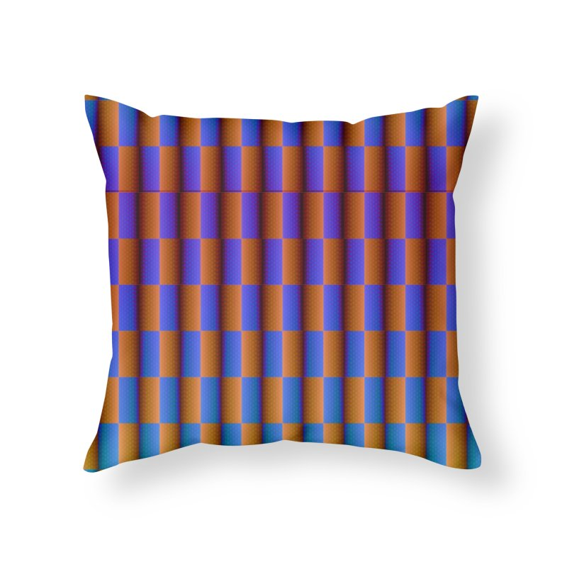 Moving Checkerboard Home Throw Pillow by earthfiredragon