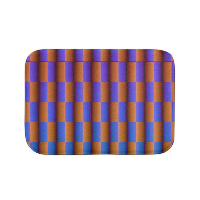 Moving Checkerboard Home Bath Mat by earthfiredragon
