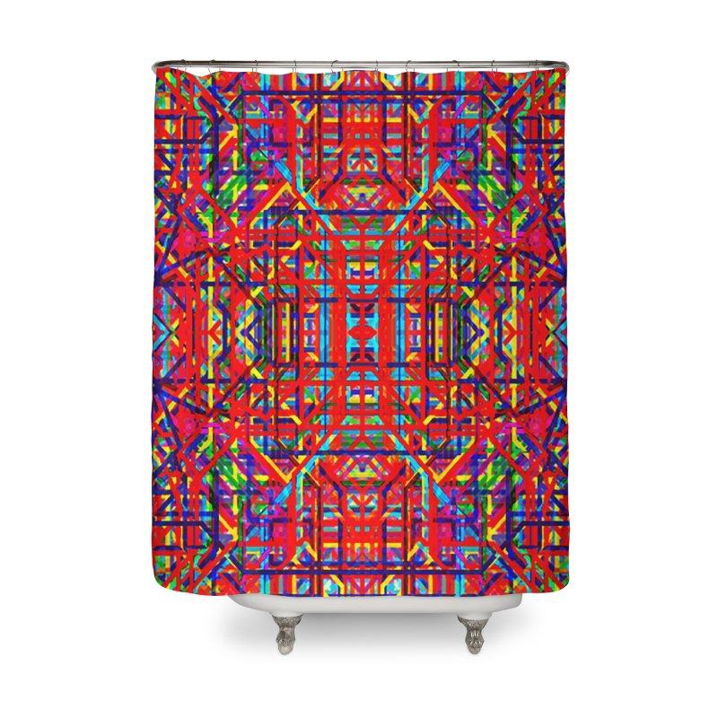 Neural Energy Home Shower Curtain by earthfiredragon