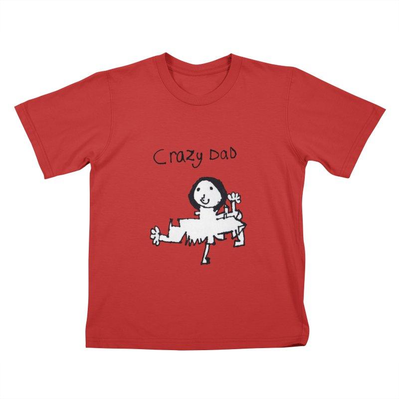 Crazy Dad Kids T-Shirt by earthfiredragon