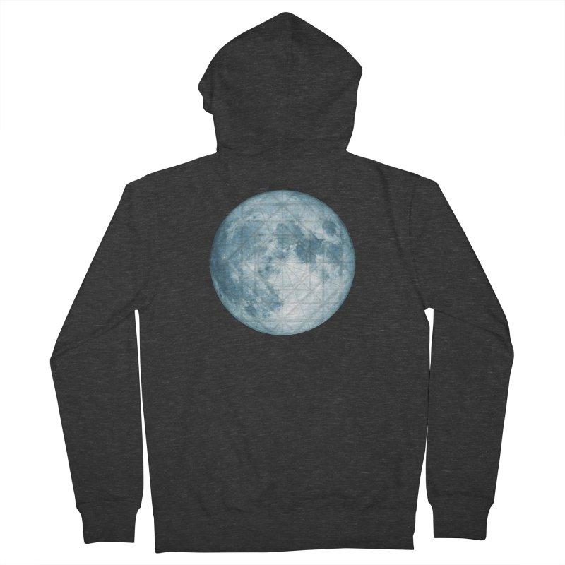 Super Moon Men's Zip-Up Hoody by earthfiredragon