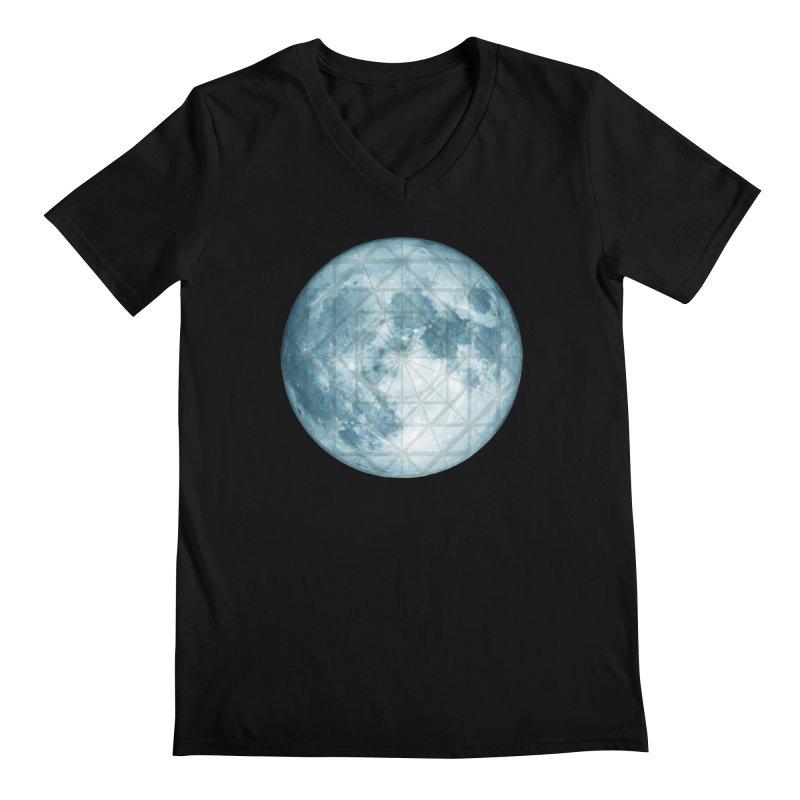 Super Moon Men's Regular V-Neck by earthfiredragon