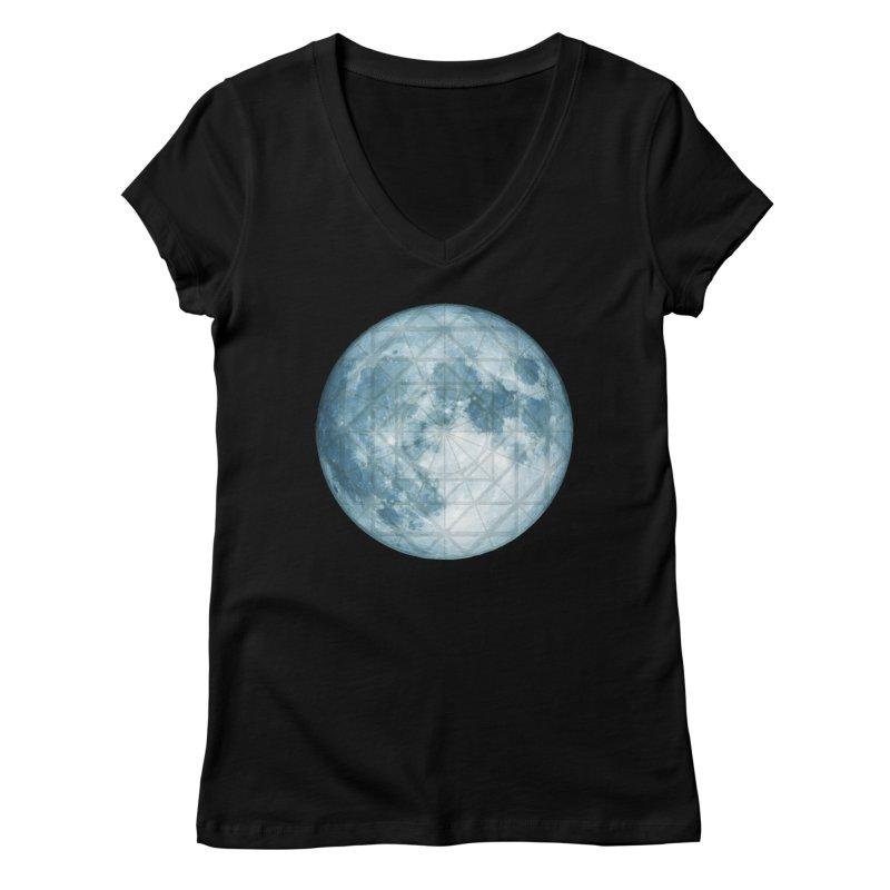 Super Moon Women's V-Neck by earthfiredragon