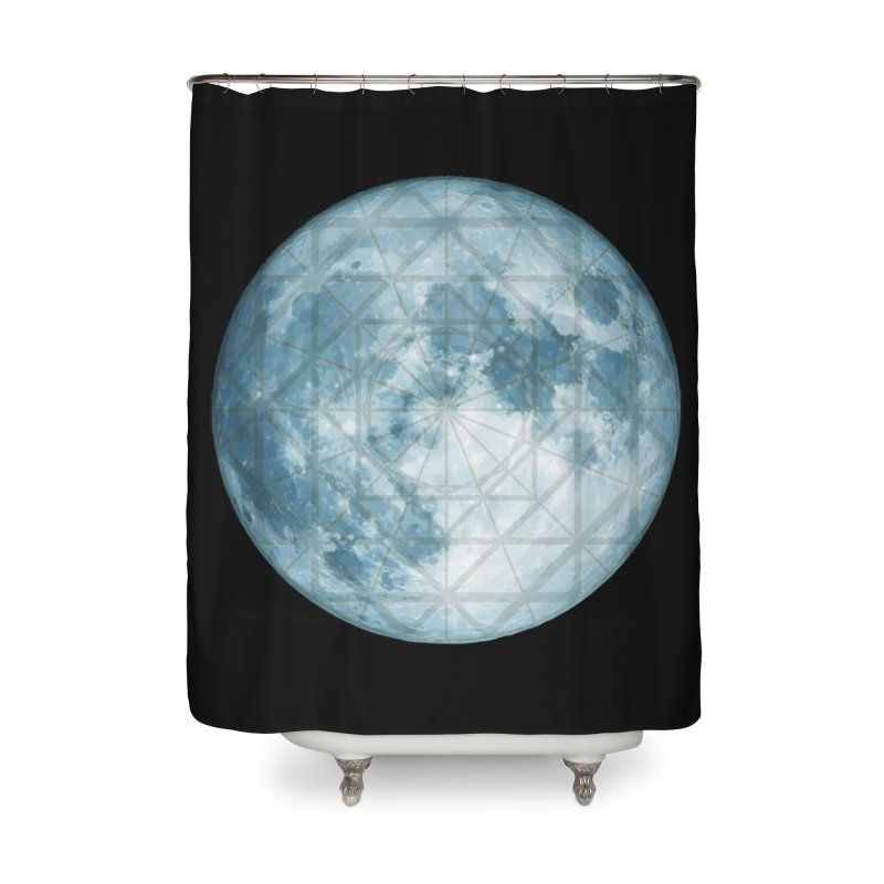 Super Moon Home Shower Curtain by earthfiredragon