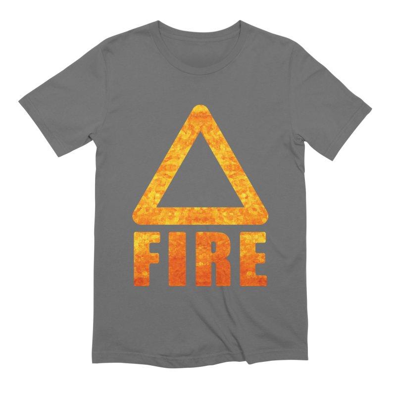 Fire Sign Men's T-Shirt by earthfiredragon