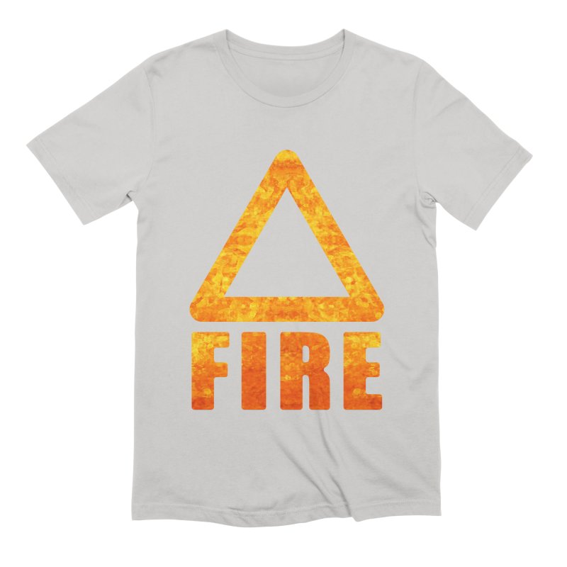 Fire Sign Men's Extra Soft T-Shirt by earthfiredragon