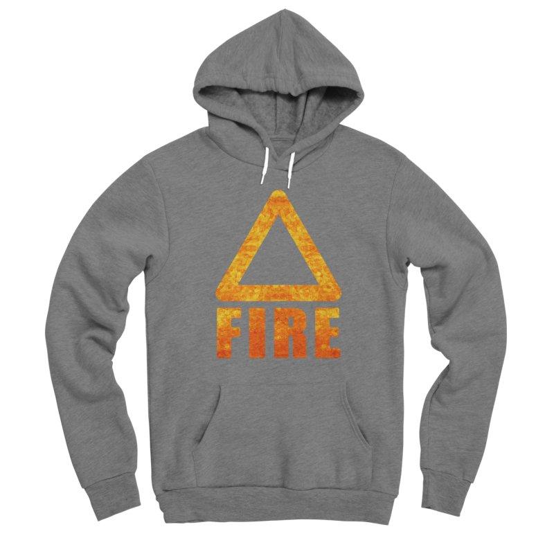 Fire Sign Men's Sponge Fleece Pullover Hoody by earthfiredragon