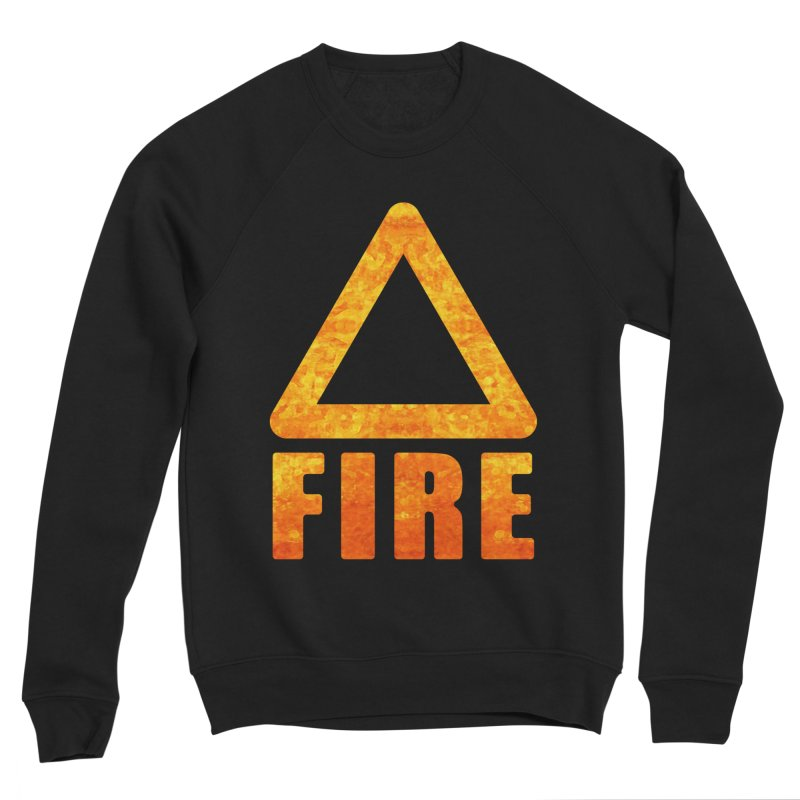 Fire Sign Men's Sponge Fleece Sweatshirt by earthfiredragon