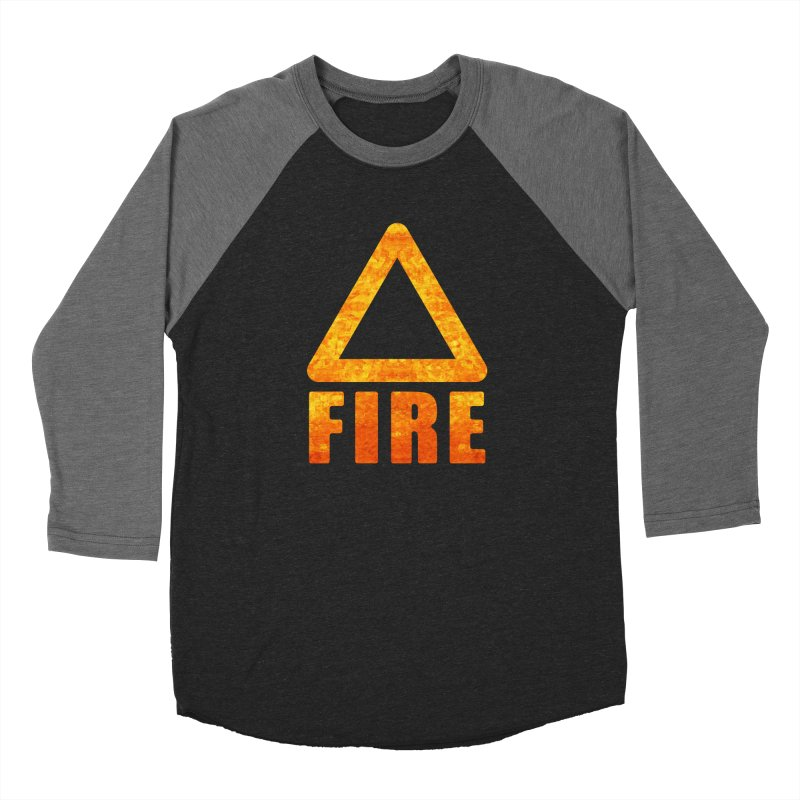 Fire Sign Men's Baseball Triblend Longsleeve T-Shirt by earthfiredragon