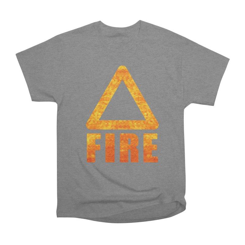 Fire Sign Men's Heavyweight T-Shirt by earthfiredragon