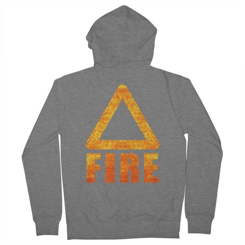 Fire Sign Women's Zip-Up Hoody by earthfiredragon