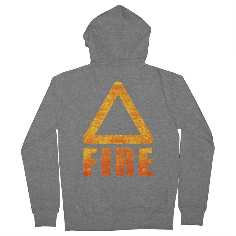 Fire Sign Men's Zip-Up Hoody by earthfiredragon