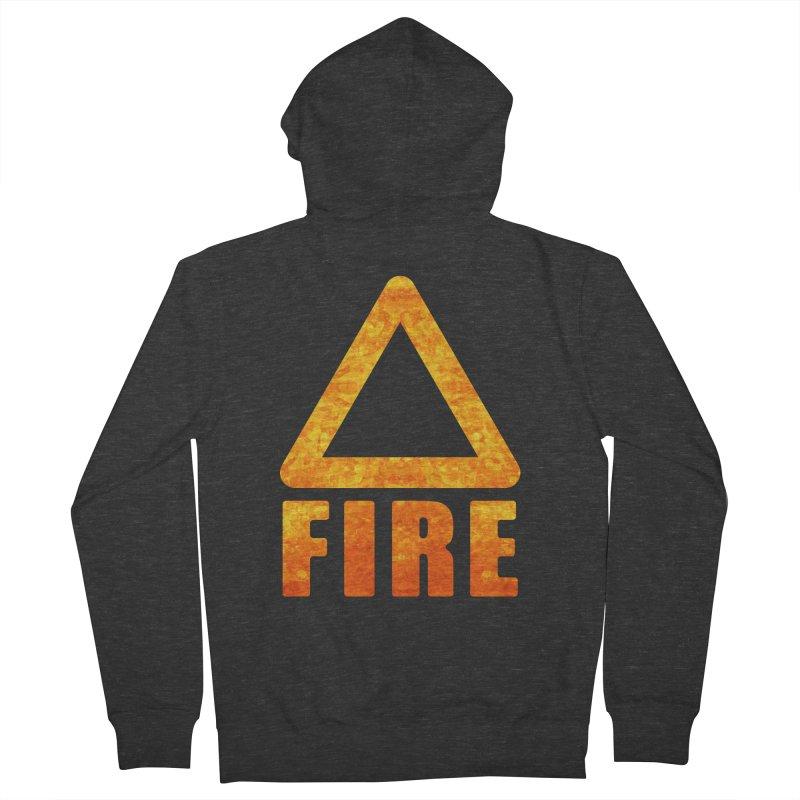 Fire Sign Men's French Terry Zip-Up Hoody by earthfiredragon