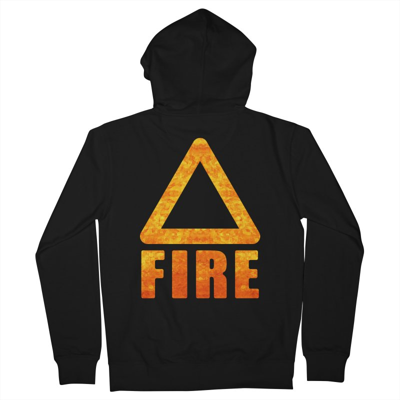 Fire Sign Men's Zip-Up Hoody by earthfiredragon