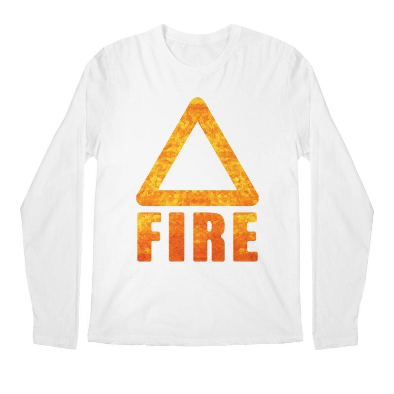 Fire Sign Men's Longsleeve T-Shirt by earthfiredragon
