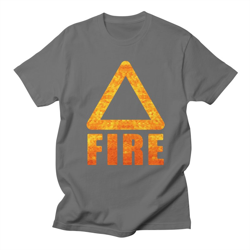 Fire Sign Men's T-Shirt by earthfiredragon
